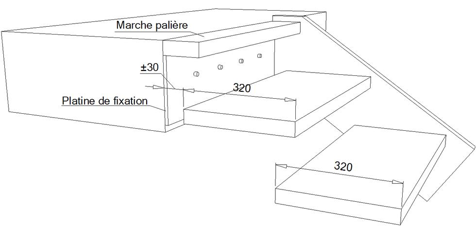 calculer un escalier droit. Black Bedroom Furniture Sets. Home Design Ideas