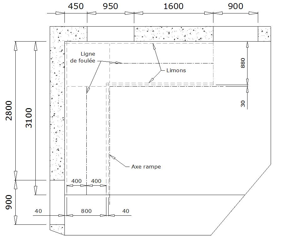 calculer un escalier quart tournant. Black Bedroom Furniture Sets. Home Design Ideas